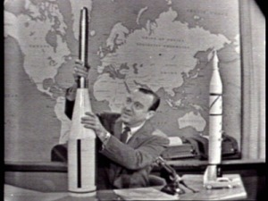 Walter Cronkite Discussing Space Tech