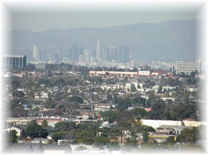 LA Skyline via Telephoto from Long Beach