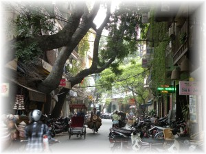 A street scene from old town Hanoi