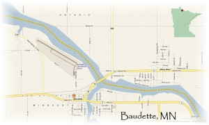 Map of Baudette Minnesota