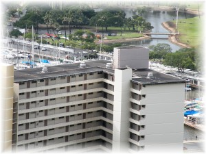 A black rooftop near Waikiki