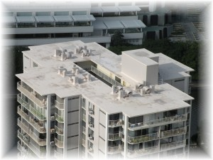A white rooftop near Waikiki
