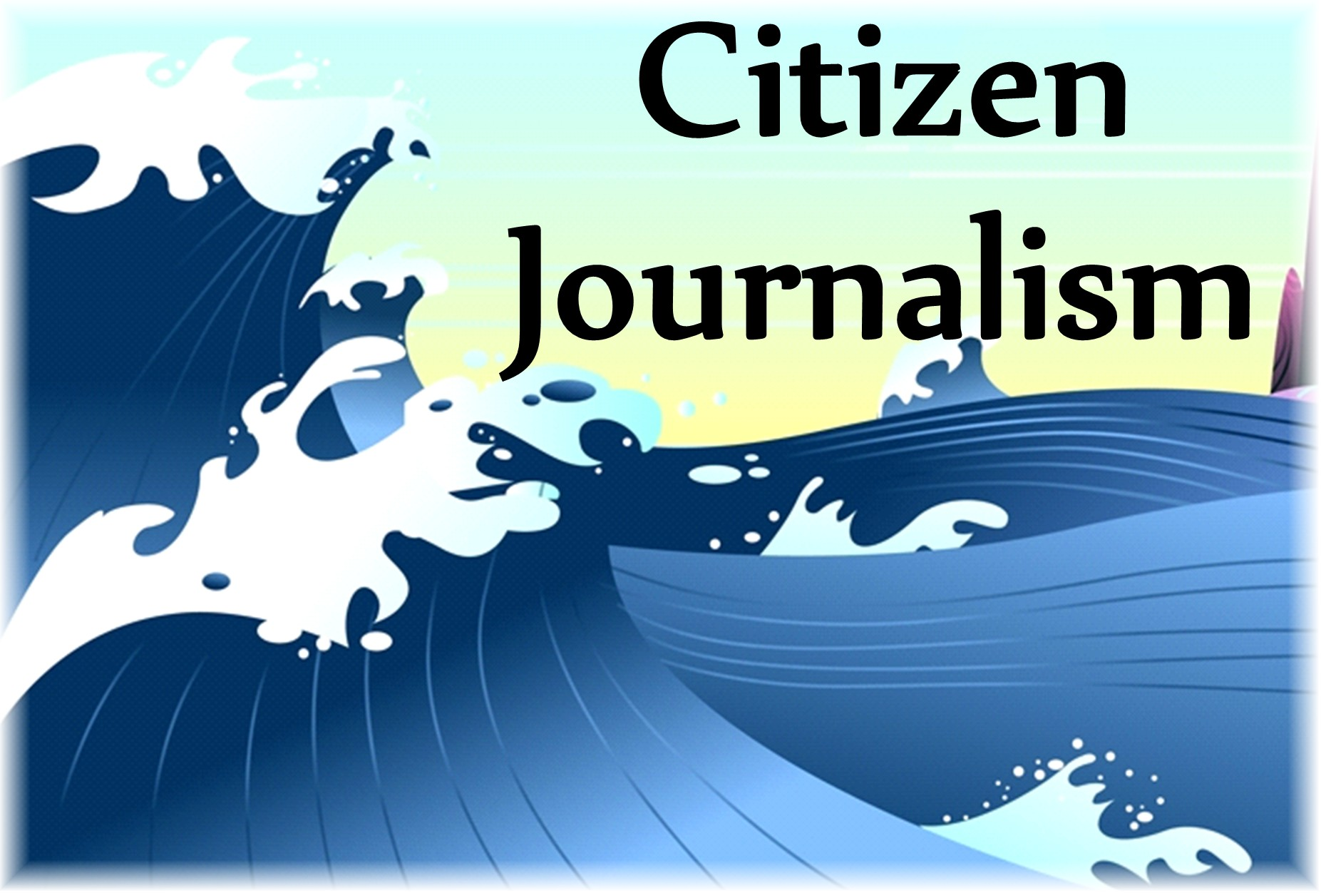 citizen journalist Citizen journalism is growing because portable video cameras makes it possible to capture video news and share it with the world at video upload sites.