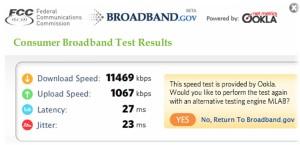 Consumer Network Test at FCC Website