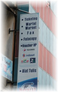WarNet is downtown Batam Indonesia