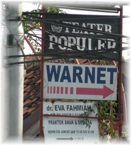 WarNet in Samarinda Indonesia