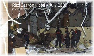 Ritz Carlton Jakarta following terrorist bombing