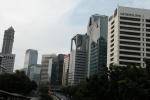 A poriton of sky scraper alley in Jakarta