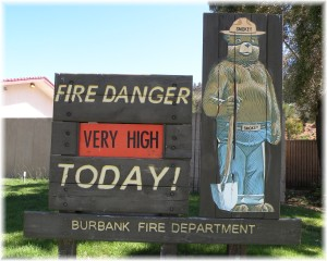 Burbank is in a High Risk Period for Wildfire