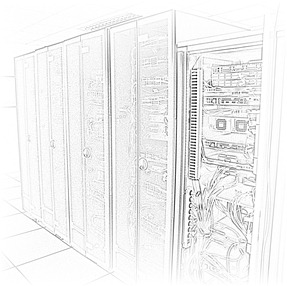 Small Data Center Cabinet Lineup